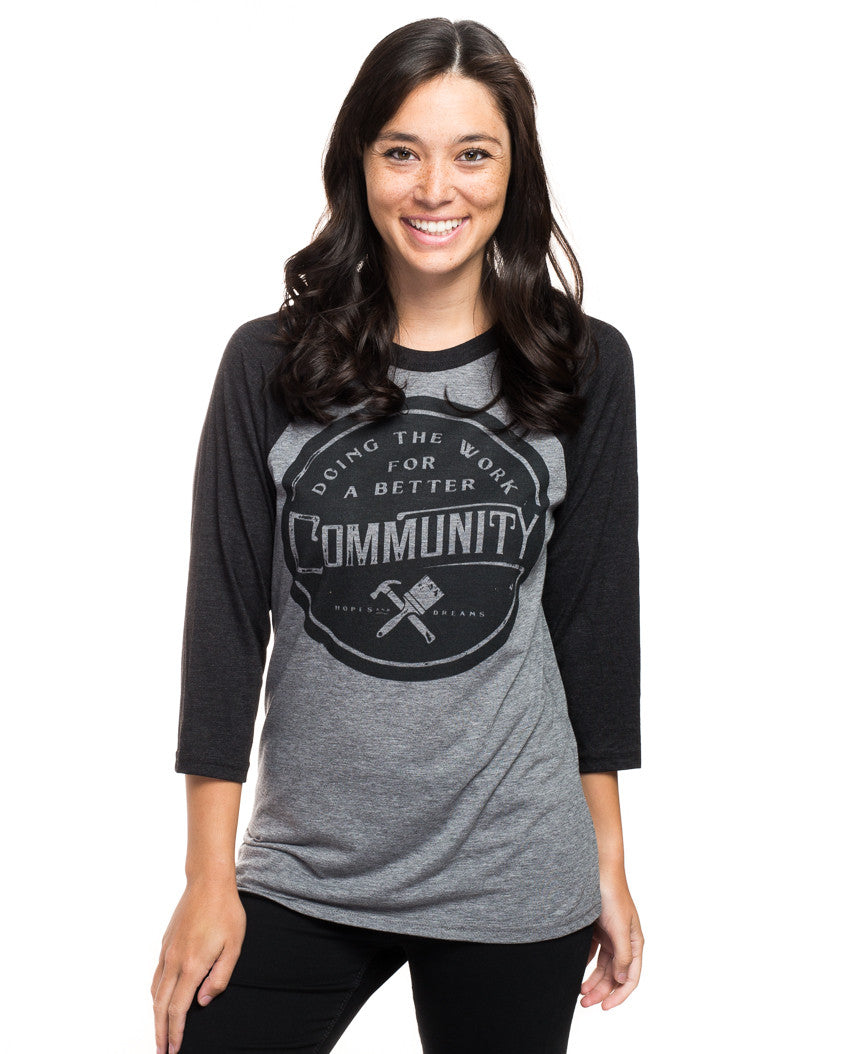 Better Community Womens Baseball Tee