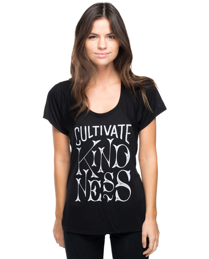 Cultivate Kindness Flowy Raglan