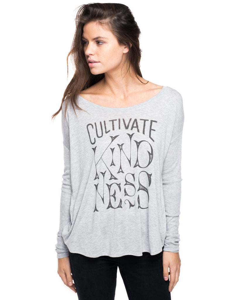 Cultivate Kindness Flowy Long Sleeve Tee