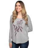 Heart Dream Catcher Flowy Long Sleeve Tee