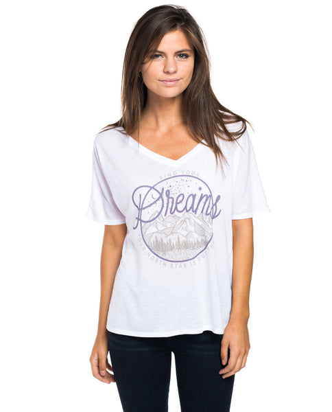 Find Your Dreams Flowy V Neck