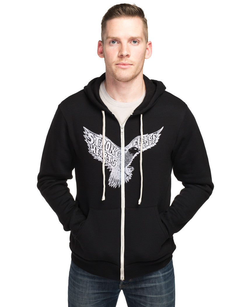 Strong Hearts Fierce Minds Mens Hoodie