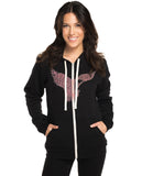 Strong Hearts Fierce Minds Womens Hoodie