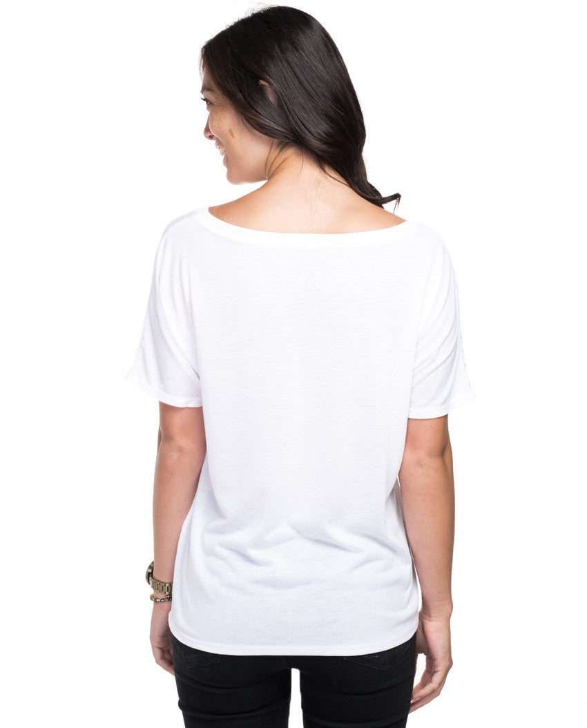 Beauty and Strength Elephant Women's White Premium Flowy V Neck