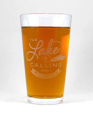 Hand-Etched, Limited Edition THE LAKE IS CALLING Glassware