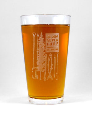 Hand-Etched, Limited Edition OUTDOOR ADVENTURE Glassware