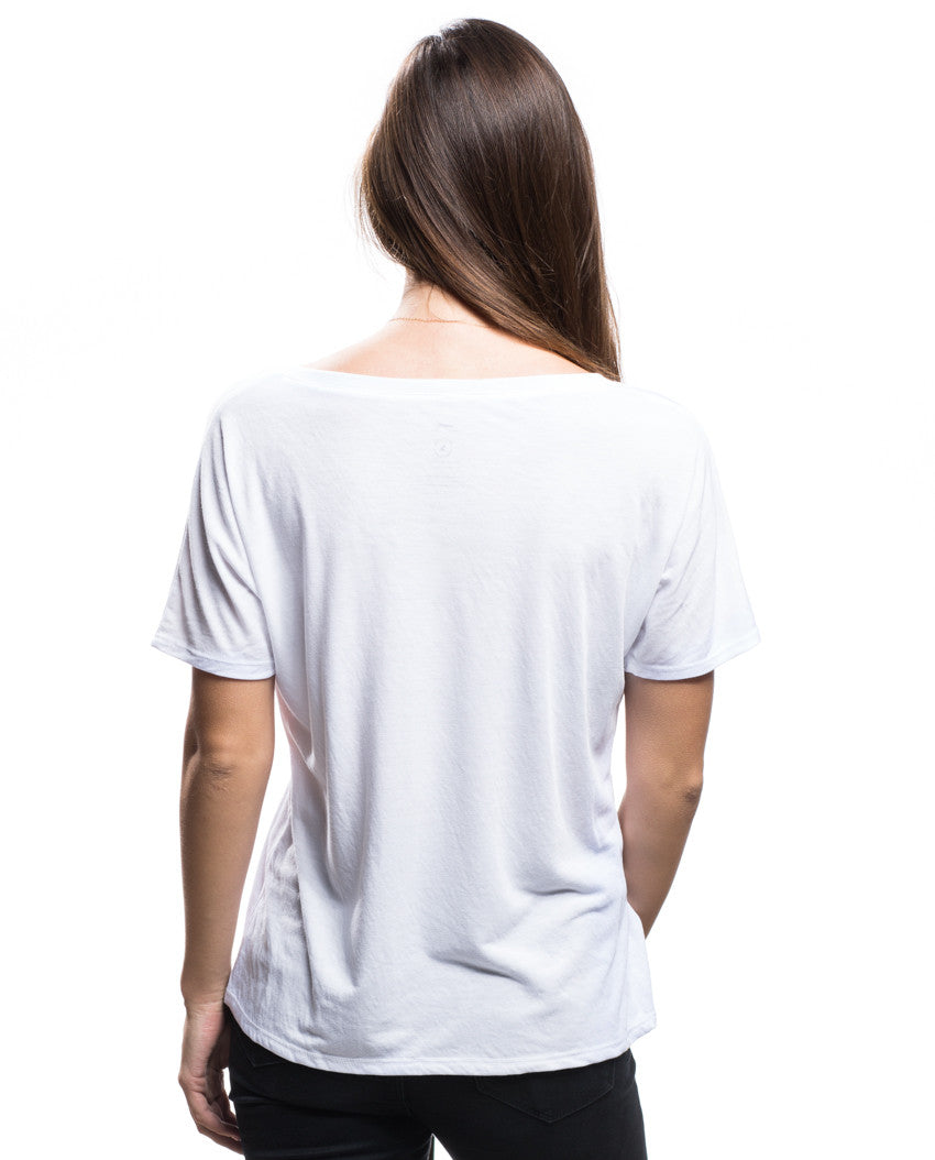 FALLEN NOT FORGOTTEN Womens White Flowy V Neck