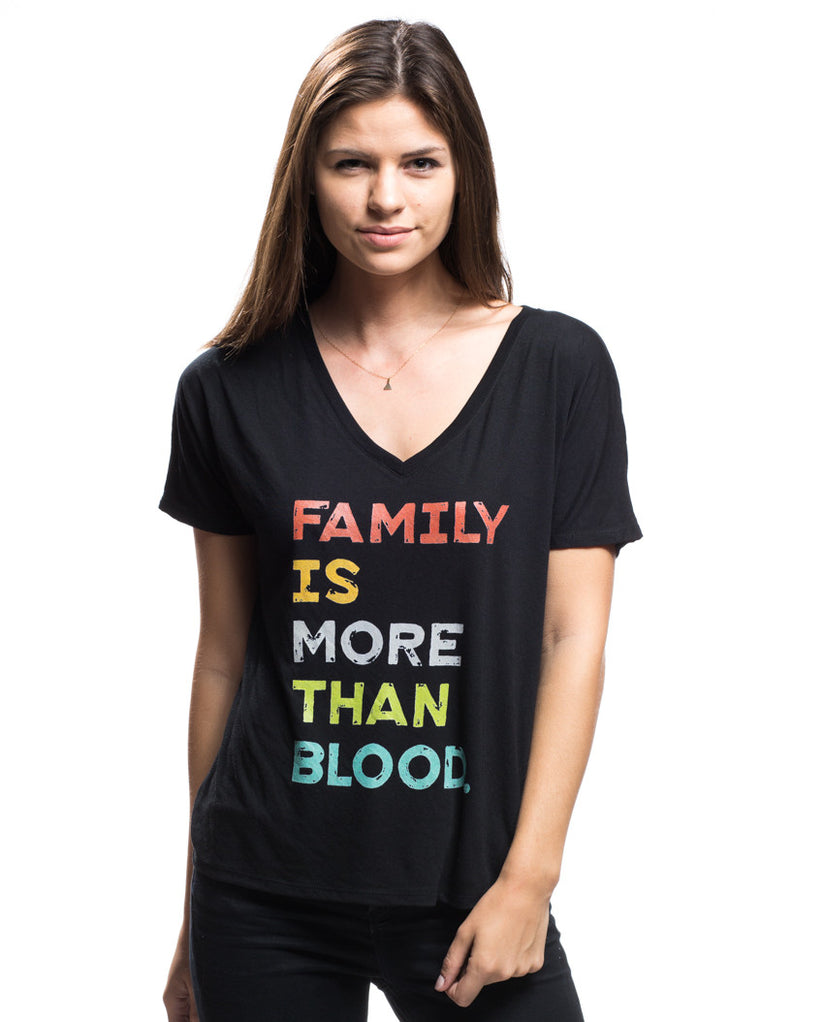 More Than Blood Flowy V Neck