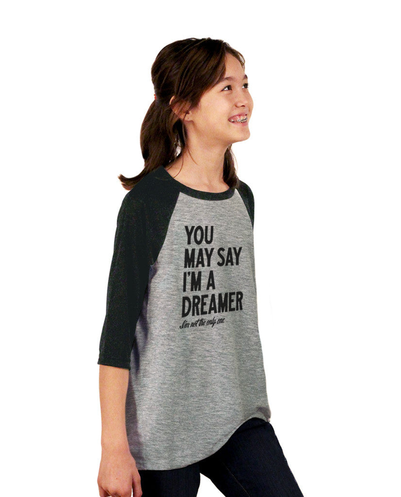 Dreamer Youth Vintage Baseball T Shirt