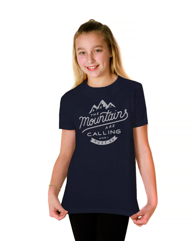 The Mountains Are Calling Youth Short Sleeve Tee