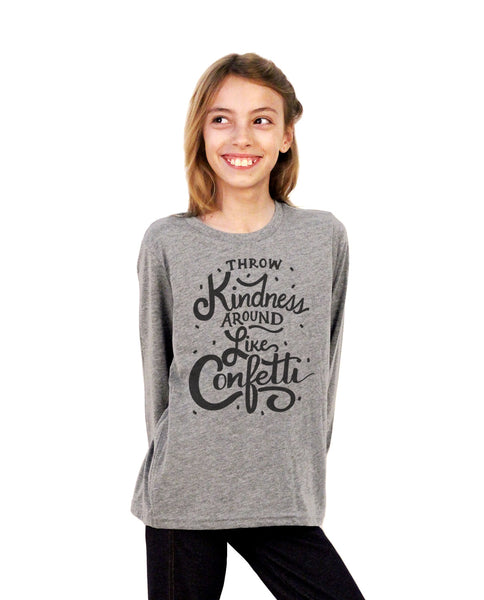 Throw Kindness Around Youth Jersey Long Sleeve Tee