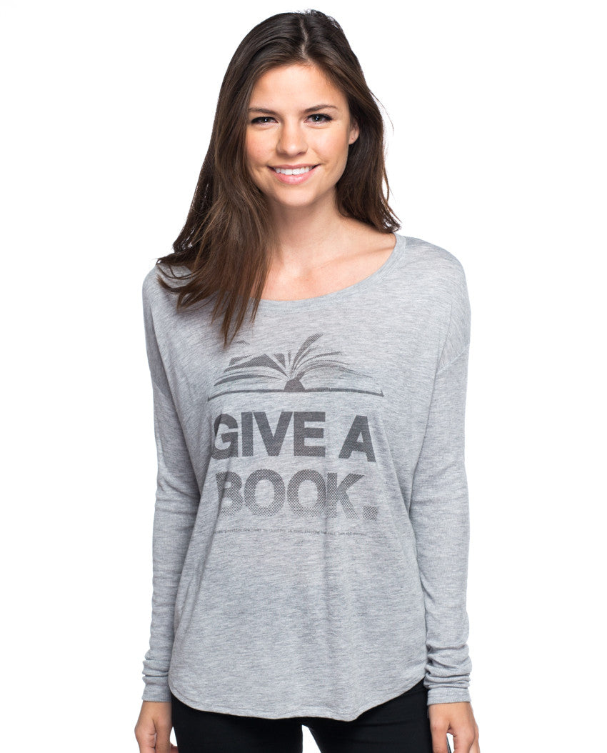 Give A Book Flowy Long Sleeve Tee