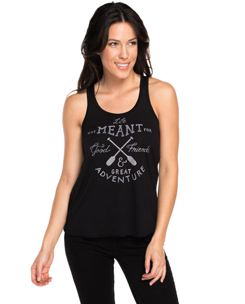 Life Was Meant For Good Friends Flowy Racerback Tank