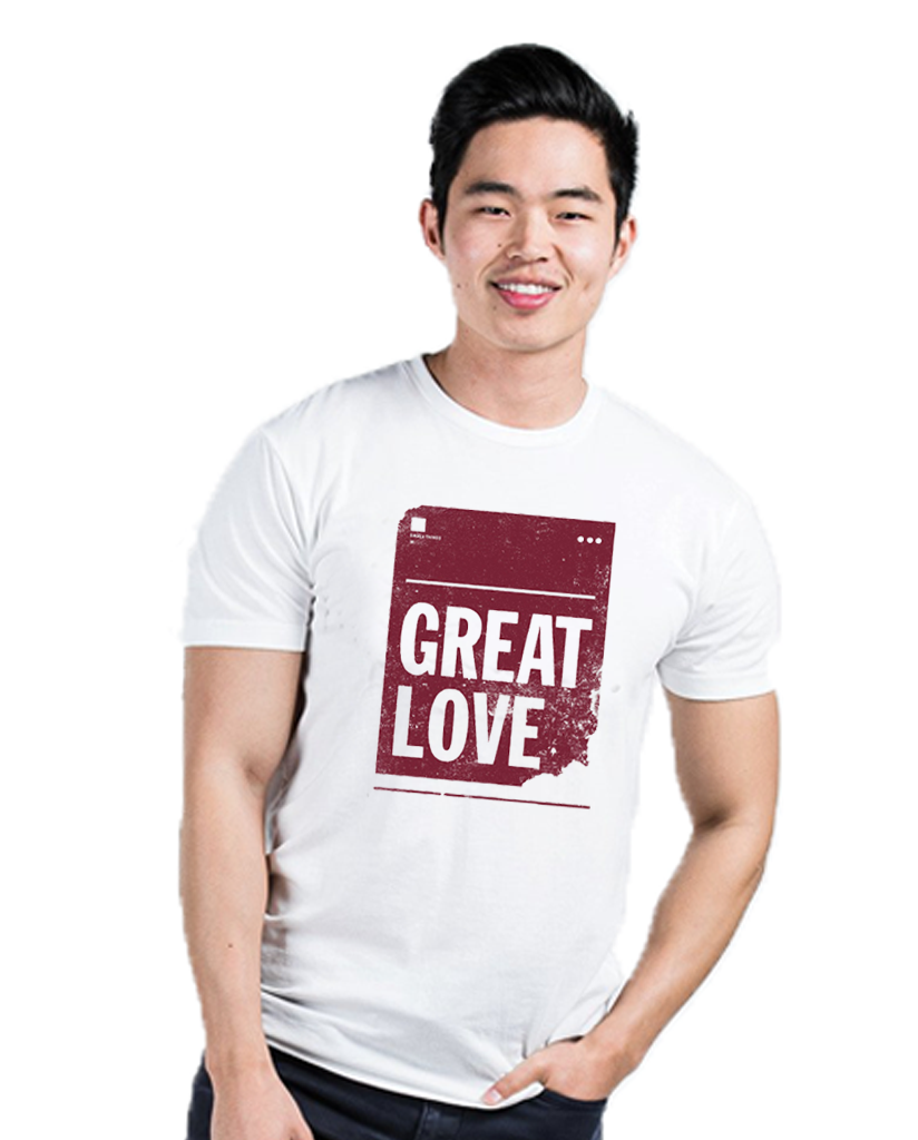 Great Love White Premium Fitted Tee