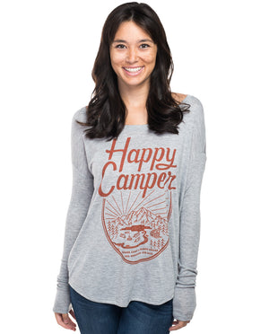 Happy Camper Flowy Long Sleeve Tee