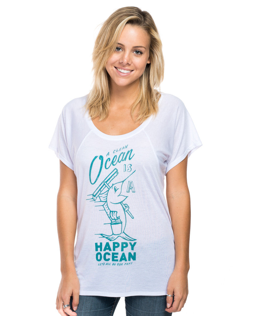 Happy Ocean Flowy Raglan