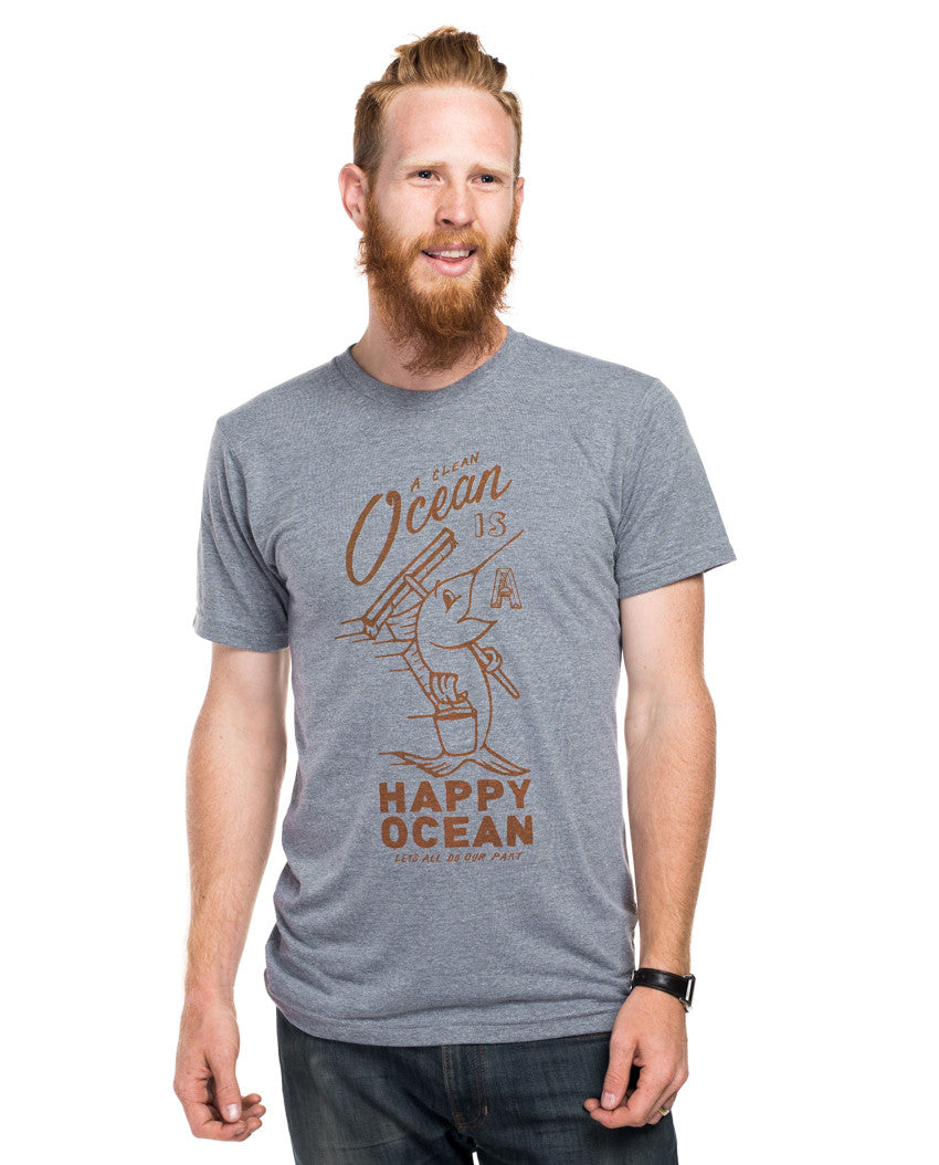 Happy Ocean Men's Premium Triblend Tee