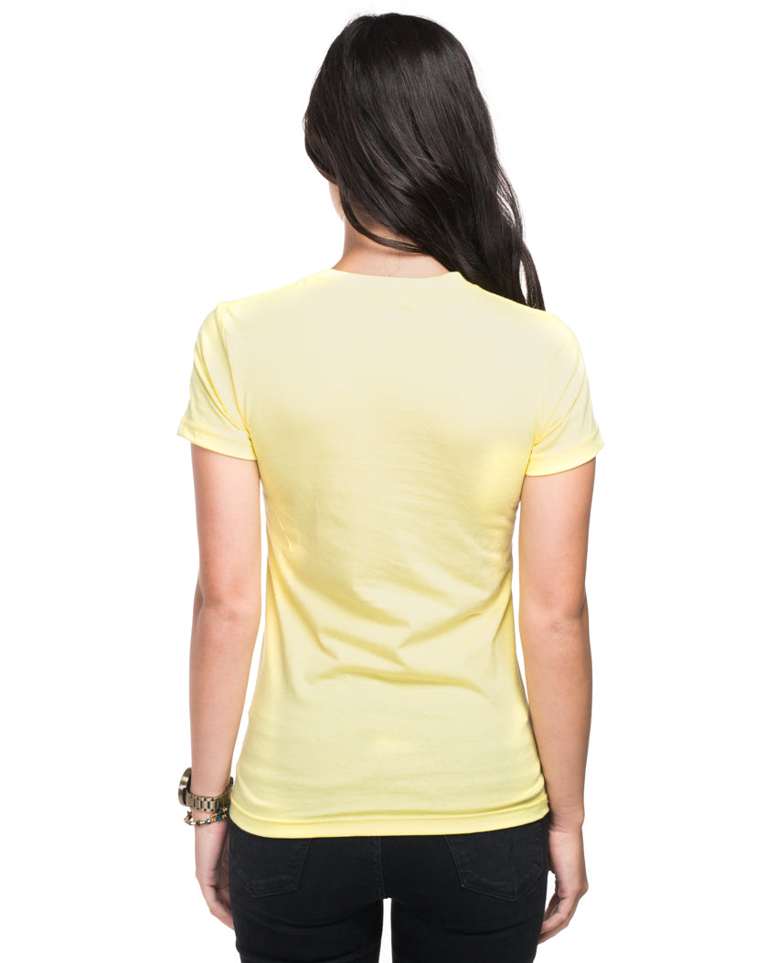 Happy Ocean Women's Yellow Short Sleeve Tee