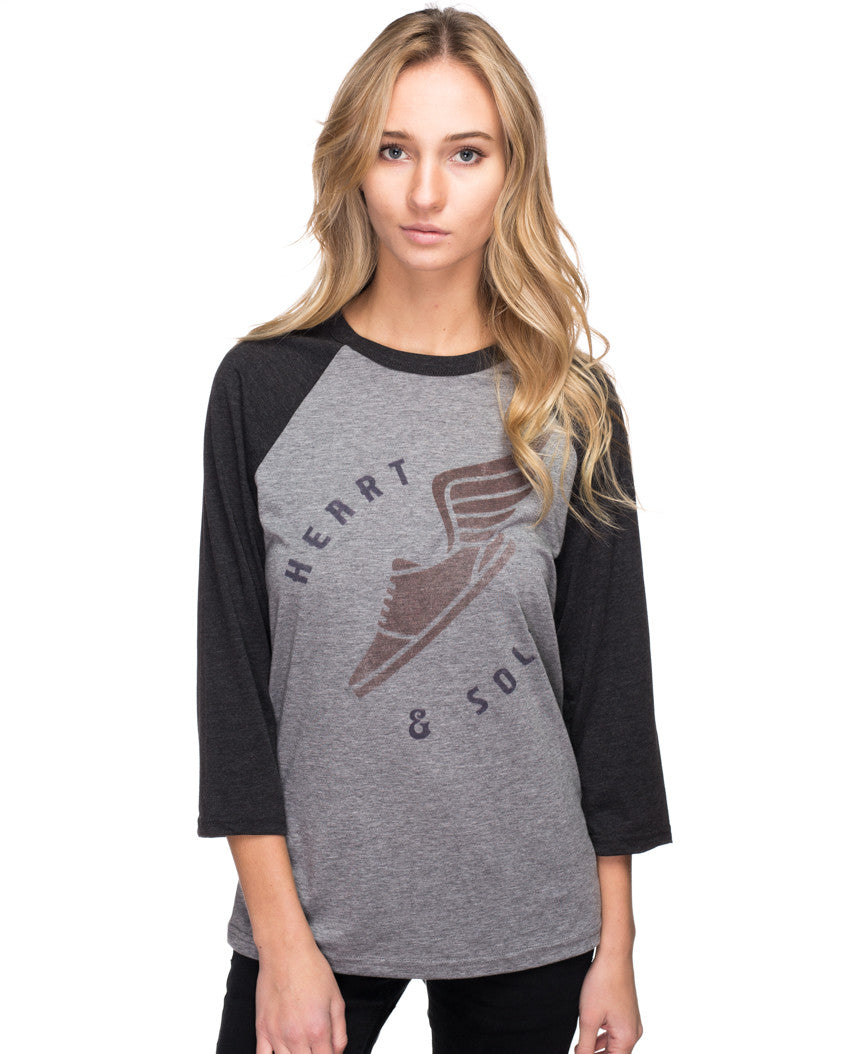 Heart and Sole Womens Baseball Tee