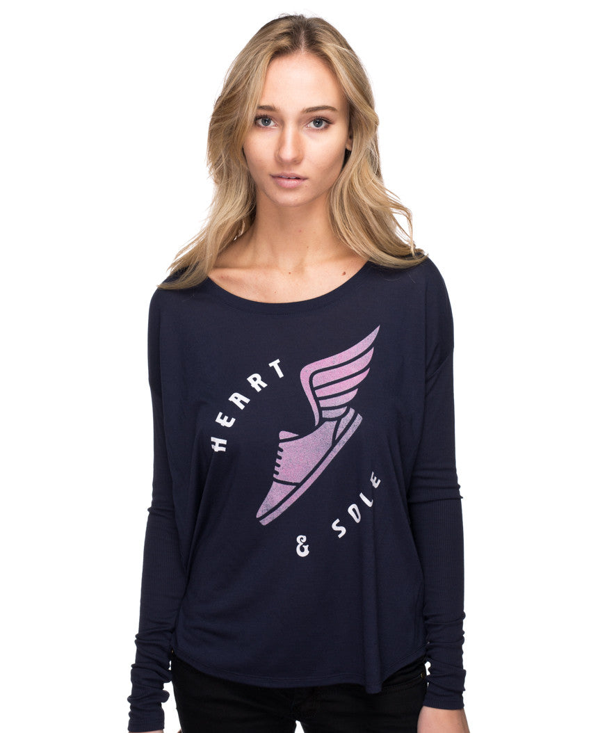 Heart and Sole Flowy Long Sleeve Tee