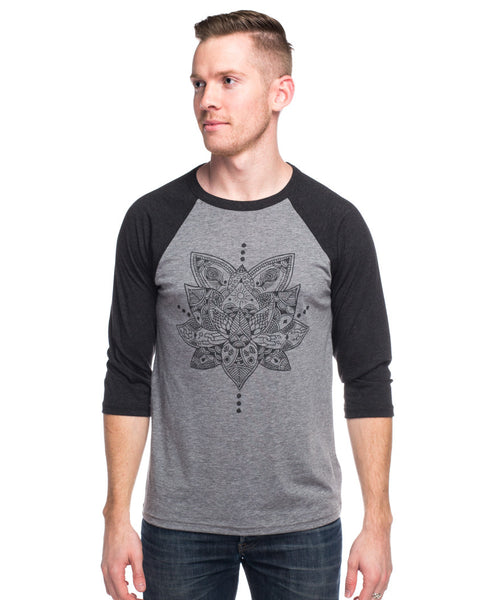 Lotus Mens Baseball Tee