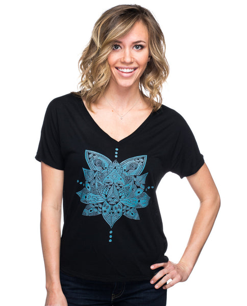 Lotus Flowy V Neck