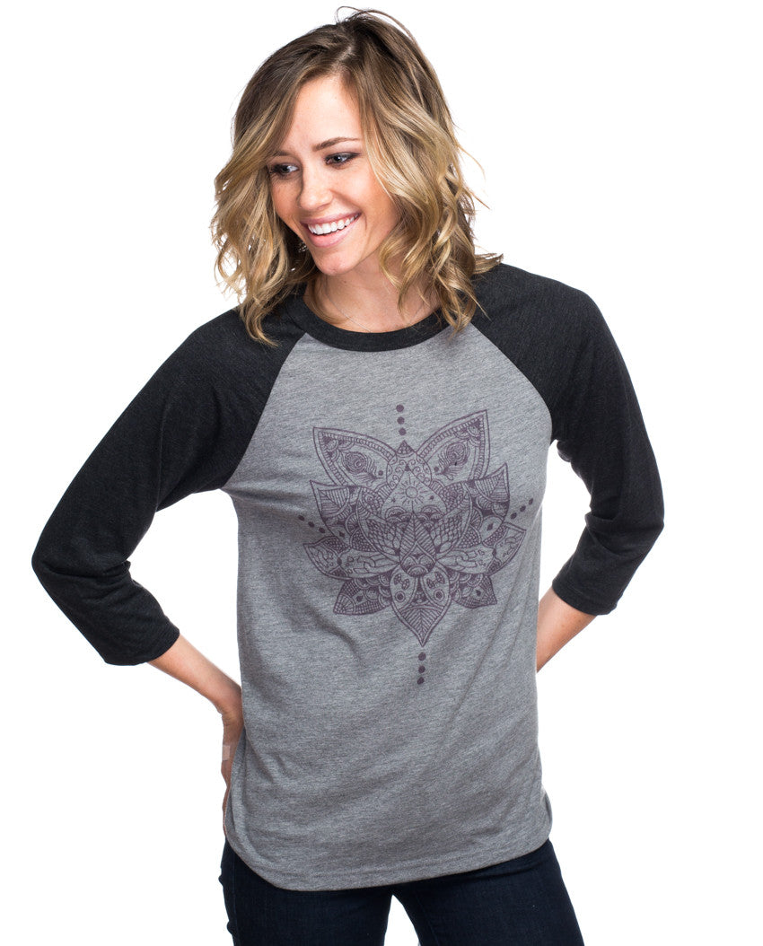 Lotus Womens Baseball Tee