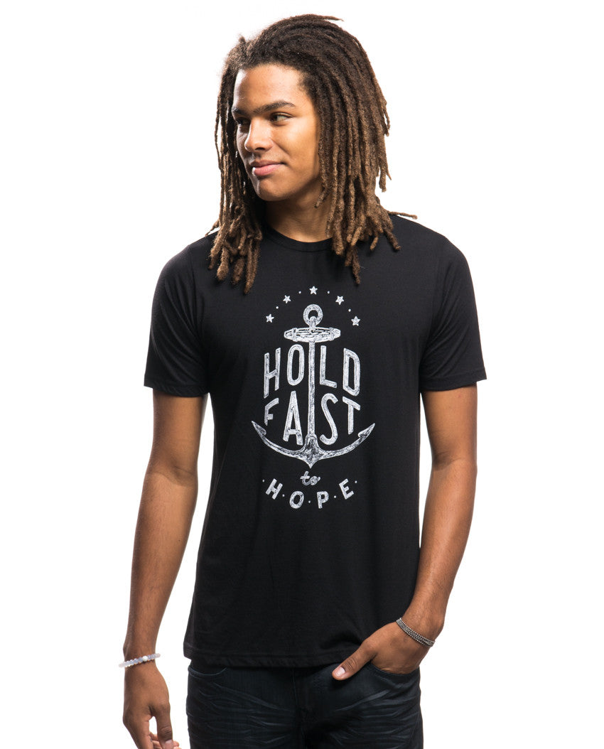 HOLD FAST Mens Black Premium Triblend Tee