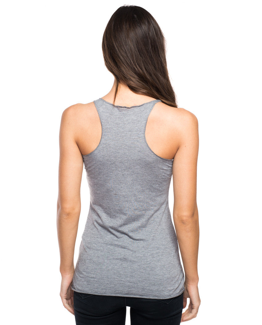 Stronger Than Yesterday Triblend Racerback Tank
