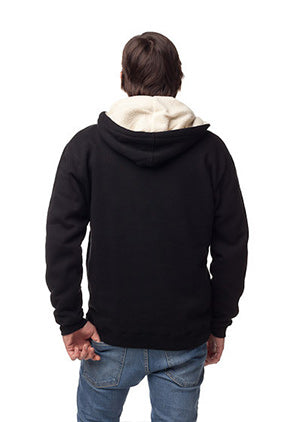 AIRPLANE MODE - Men's Sherpa Lined Full Zip Hoodie by Tech Wellness