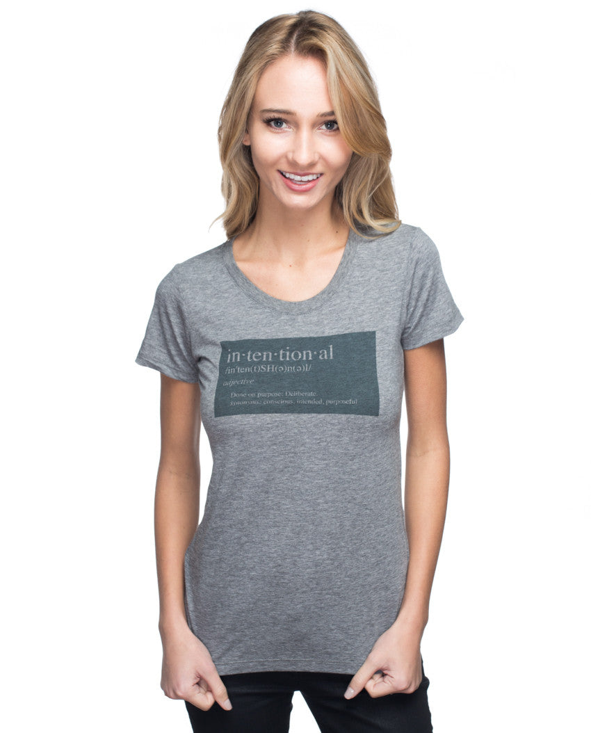 Intentional Triblend Short Sleeve Tee