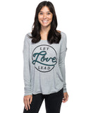 Let Love Lead Flowy Long Sleeve Tee