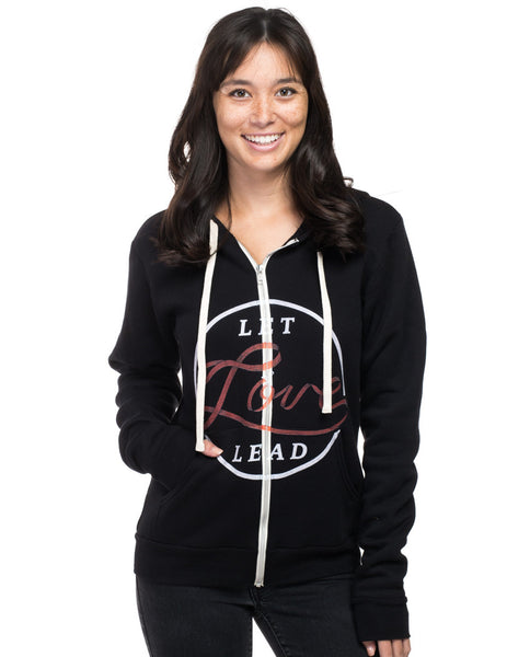Let Love Lead Womens Hoodie