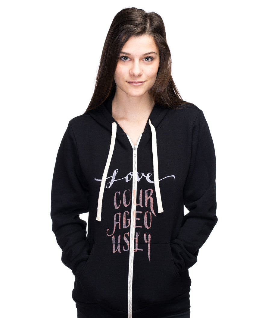 Love Courageously Womens Hoodie