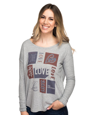 Love The Children Flowy Long Sleeve Tee