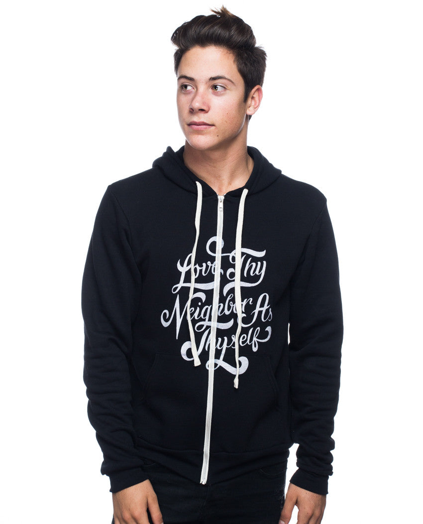Love Thy Neighbor Mens Hoodie