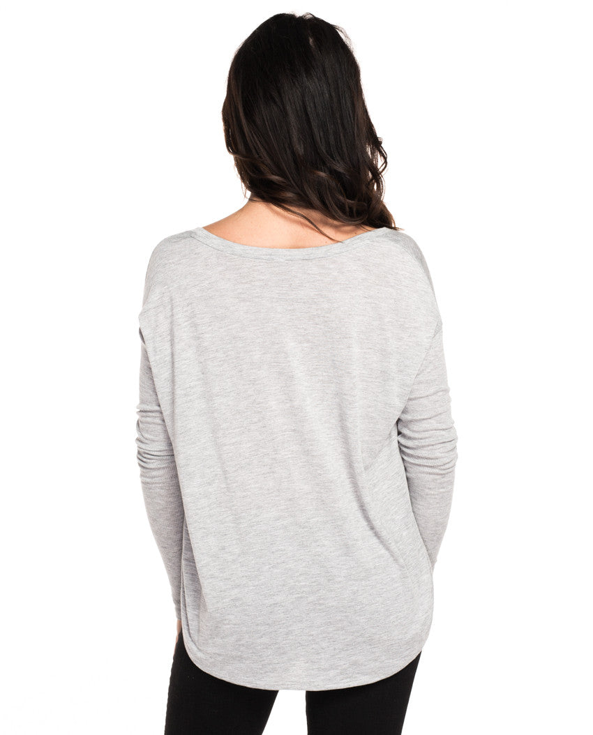 The Mountains Are Calling Flowy Long Sleeve Tee