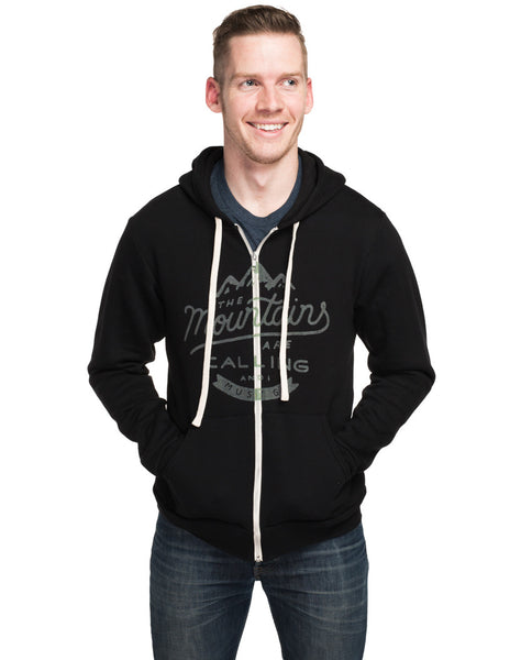 The Mountains Are Calling Mens Hoodie