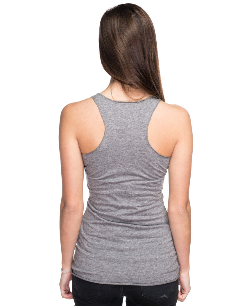 Peaches Giving Tree Triblend Racerback Tank