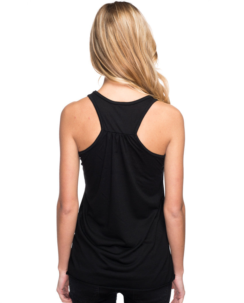 I Am Not Afraid Flowy Racerback Tank