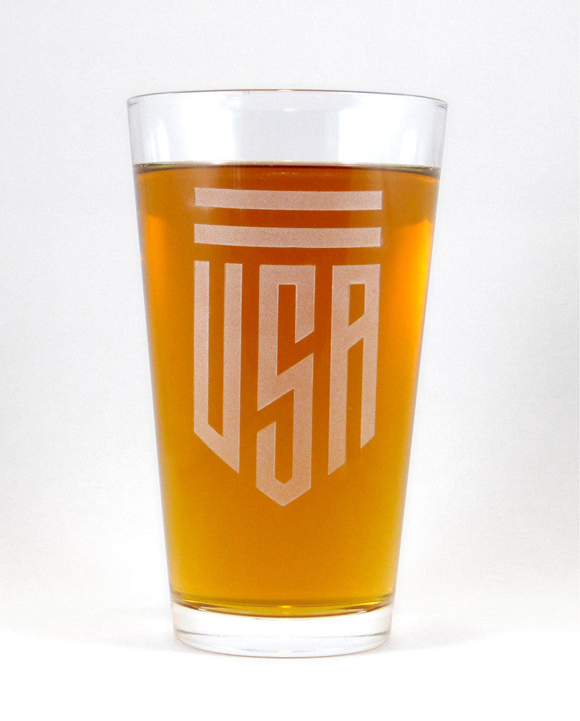 Hand-Etched, Limited Edition USA Glassware