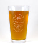 6 Pack Hand-Etched, Limited Edition Patriot Glassware