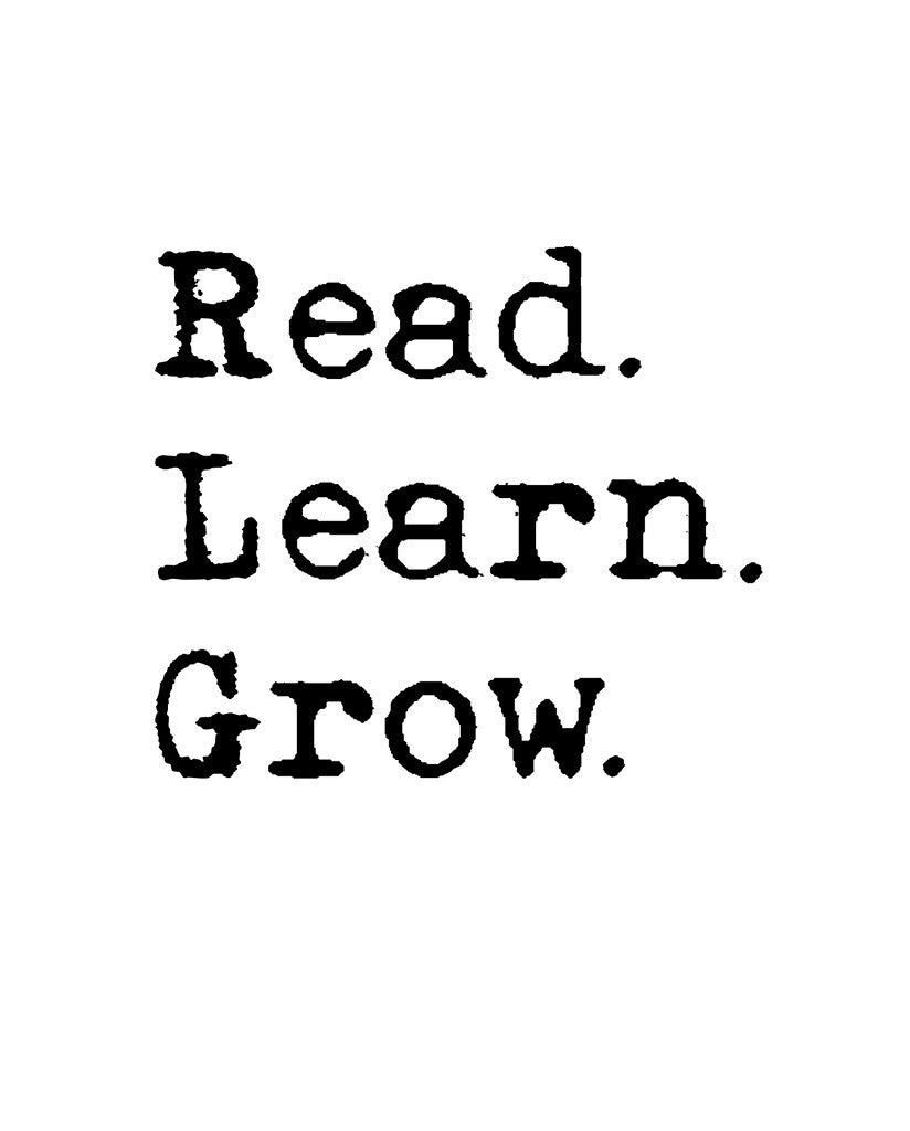 Read. Learn. Grow. Mens Premium Fitted Tee