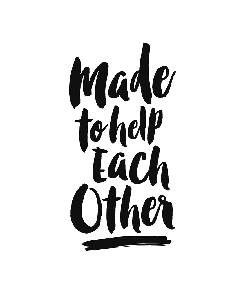 MADE TO HELP EACH OTHER Womens Black Flowy V-Neck
