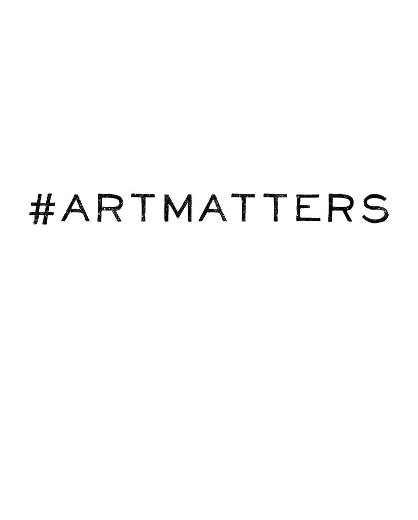 #artmatters Youth Black Jersey Short Sleeve V Neck Tee