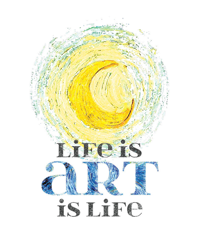 Art Is Life Youth White Short Sleeve Tee