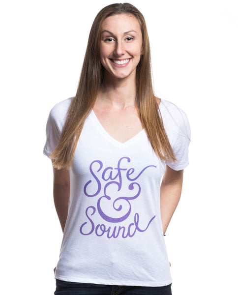 Safe and Sound Flowy V Neck