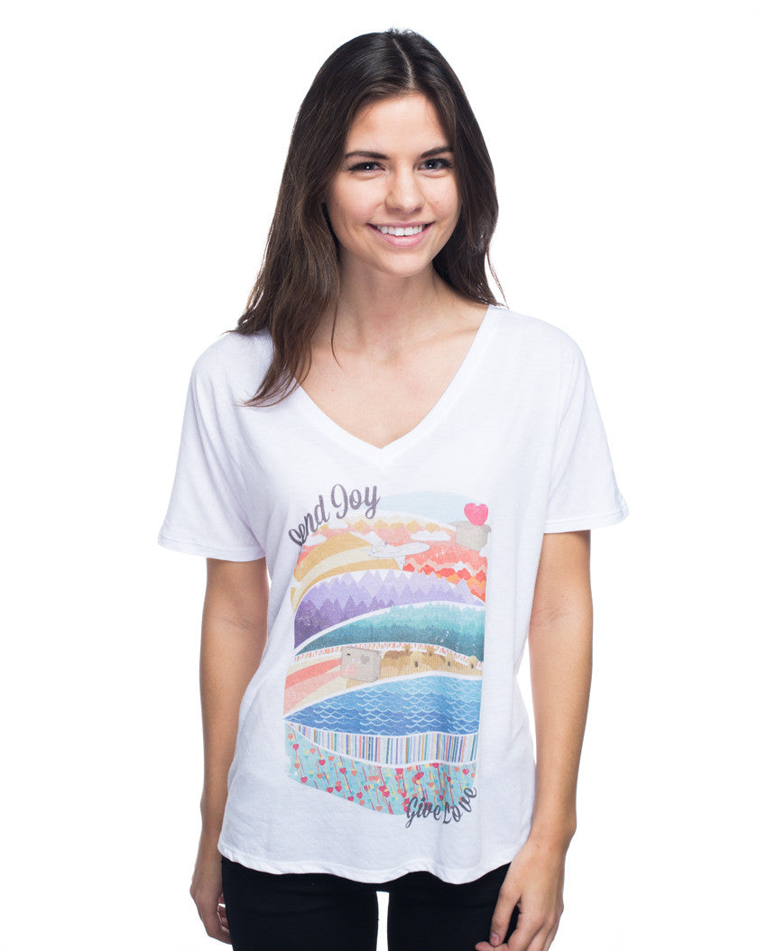 Send Joy Flowy V Neck