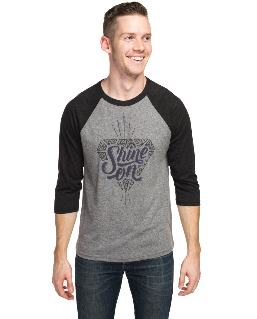Shine On Mens Baseball Tee