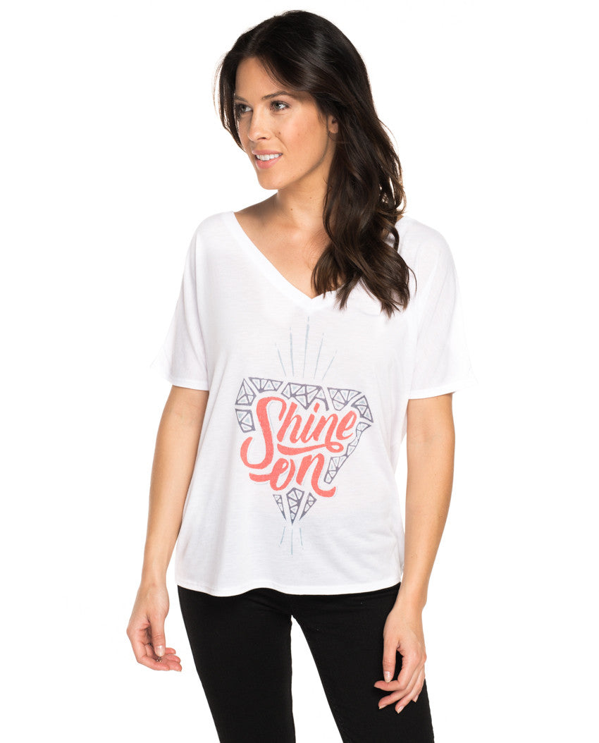Shine On Flowy V Neck